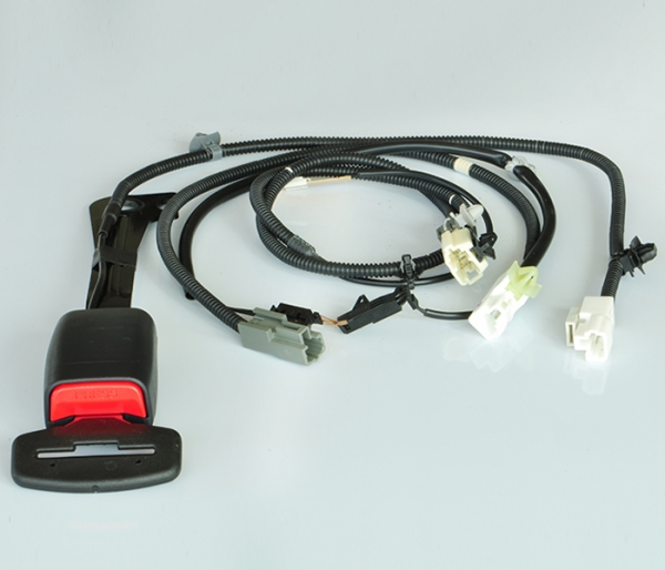 Car safety belt warning system wire harness